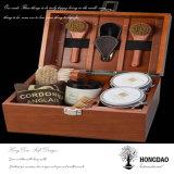 De Houten Doos Wholesale_D van de Opslag van de Hulpmiddelen van de Borstel van de Douane van Hongdao