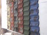 Strato rivestito rivestito di pietra del tetto delle mattonelle di tetto del metallo/metallo della pietra