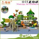 Дети сползают напольное оборудование спортивной площадки для парка атракционов малышей