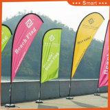 屋外またはイベントの広告するか、またはSandbeach (モデルNo.のための異なった形と混合されるカスタム羽のフラグ: QZ019)