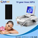 Machine portative de beauté de déplacement de ride de face d'ultrason de Hifu d'utilisation de clinique de modèle neuf