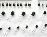 Condensador verde de la película de poliester de Cl11 Pei hecho en China