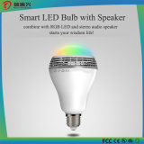 Lâmpada esperta do diodo emissor de luz de Bluetooth com altofalante de Bluetooth