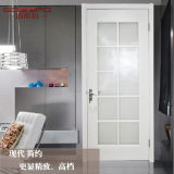 Porte intérieure en bois de pièce avec les panneaux en verre (GSP3-046)