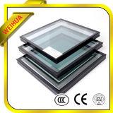 Liso/curvou o vidro isolado para o projeto de construção