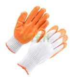 De hete het Tuinieren van de Verkoop Katoenen van het Latex van de Goede Kwaliteit van de Greep van de Veiligheid van de Handschoen Palm Met een laag bedekte Handschoen van het Werk (D14-H1)