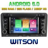 Автомобиль DVD Android 6.0 сердечника Witson 8 для Audi A3
