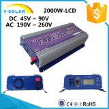 invertitore solare Ys-2000g-W-D-LCD del legame di griglia di energia eolica di CC di 2000W-LCD 46Hz-65Hz