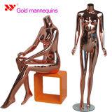 Moda Maniquí de Oro Femenino de Cuerpo Completo de Escaparate