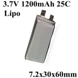 723060 de Batterij van Lipo 3.7V 1200mAh 25c