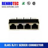 최상급 똑바른 다중 포트 연결관 1X4 RJ45