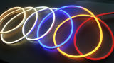 AC230V Warm White Color LED Neon Flex Rope Light para Decoração