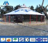 Грейте шатер Yurt взгляда холстины пребывания с стеклянной стеной