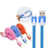 1m Android V8 Universal for Samsung Colorful Flat Mobile Phone Charger Data Micro USB Cable