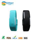 Kundenspezifische Uhr des Firmenzeichen-Form-Silikon-LED, Silikonwristband-Uhr