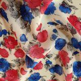 Tecidos de fibras de viscose impresso digital estilo Crepe vestido de mulher