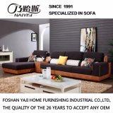 Sofá secional de design moderno com capa de tecido e couro para móveis de sala de estar -Fb1140