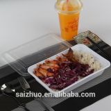 Fach-Nahrungsmittelbehälter-Wegwerfpicknick-Mittagessen-Kasten der Mahlzeit-Vorbereitungs-1 (800ml)
