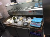 Мраморный верхний холодильник таблицы работы нержавеющей стали для шведского стола