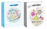 3D de la conception d'anniversaire sac de papier pour bébé partie avec crochet