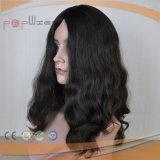 Peluca llena atada mano negra de las mujeres del pelo de Remy de la Virgen del cordón del color