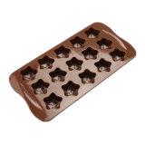 Nuevo producto certificado FDA Material de grado alimentario molde de silicona, 3D Stra de silicona con forma de molde de budín de chocolate /Molde