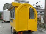 Divers types de camion électrique d'aliments de préparation rapide à vendre la cuisine de conteneur de chariot de vente/aliments de préparation rapide