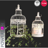 Antique mal Chic Set/2 colgando Birdcage