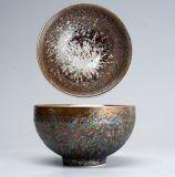 Cinese metallico Teaware della glassa del Teacup della porcellana di Chawan pagato tazza di ceramica promozionale della ciotola del tè