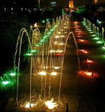 Laminair Water die de StraalPijp van de Fontein springen