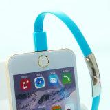 22cm 편평한 이동 전화 책임 데이터 마이크로 팔찌 USB 케이블