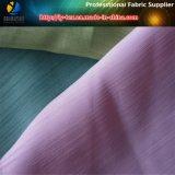 Tecido de seda acetinado Slub de poliéster, efeito duplo para vestuário / sapatos (R0039)