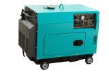 Air-Cooled silenciosa portátil pequeno gerador diesel 5KW com marcação CE/ISO