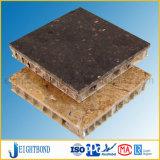 Panneau en aluminium de nid d'abeilles de granit
