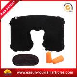 Travesseiro de pescoço inflável flocão de PVC para viagem (ES3051768AMA)