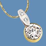 pendente dell'oro giallo 9k con la pietra preziosa (LPG1111)