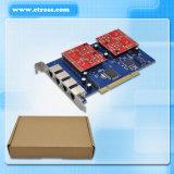 Tarjeta analogica del PCI del asterisco de la tarjeta 4 FXS/FXO de la telefonía de voz de TDM410p