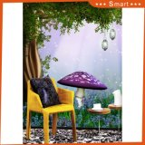 Lovely Mushroom House Birds no Top Wall Papers para Wall