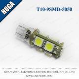 T10 9SMD 5050 LED 표시기 전구 백색 Canbus LED 전구