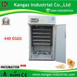 Haute certifiée par CE hachant le taux d'incubateur automatique bon marché d'oeufs de 440 oeufs