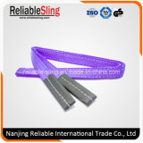 100% Poliéster Eye & Eye Double Ply Flat Crane Webbing Sling for Lifting