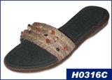 Zapatilla de artesanía para dama (H0316C)