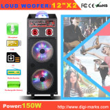 Altavoz portátil con la batería del micrófono del altavoz de Bluetooth de luz LED