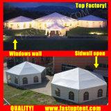 不動産の入り口の直径12mのためのFastupの製造業者のゆとりのマルチ側面のテント200人のSeaterのゲスト