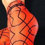 Calças desportivas a impressão digital de Basquetebol Feminino Exercício Ioga Perneiras quadril cintura elevada de elevação