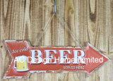 Il disegno della birra di ghiaccio imprime la piastra della decorazione della parete del metallo di stampa