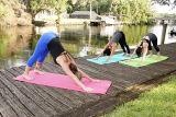 Comercio al por mayor Eco friendly TPE Fabricante Antideslizante Mat de Yoga