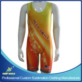 High Premium Custom Made Full Sublimation Printing Compression Wrestling Singlets