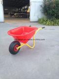 Trole plástico do carro do carrinho de mão de roda do Wheelbarrow Wb0201 da bandeja