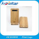4000mAh cargador de móvil de bambú Powerbank Material de madera del Banco de potencia